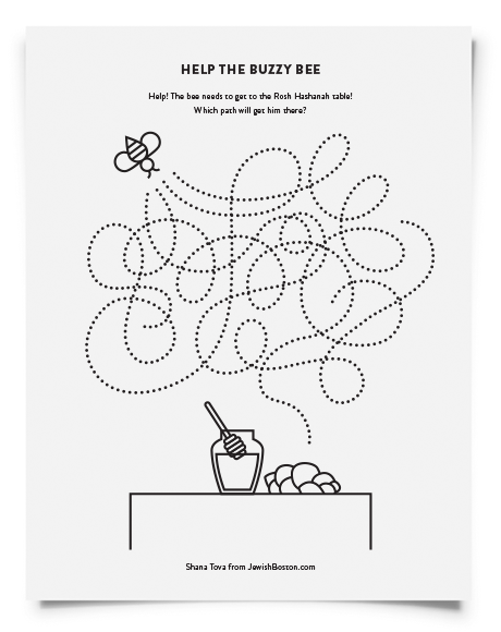 picture relating to Rosh Hashanah Coloring Pages Printable named Downloadable Rosh Hashanah Game Webpages for Little ones