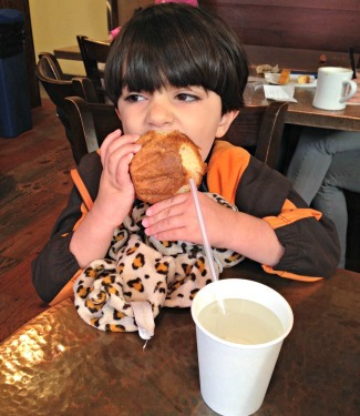 Eitan with his beloved brioche