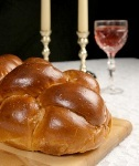 challah and candles