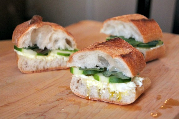 Chosen Eats: Goat Cheese Sandwiches with Honey and Truffle Oil