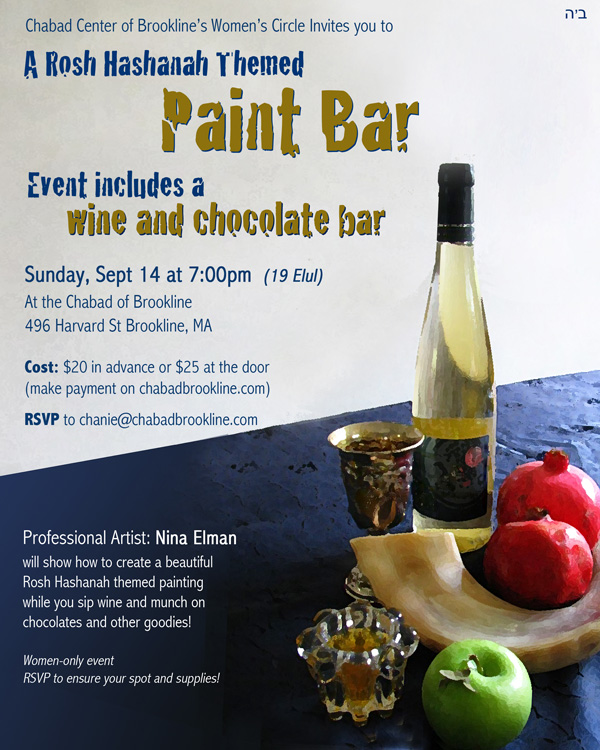 Ladies paint nite wine chocolate bar jewish boston for Wine and paint boston