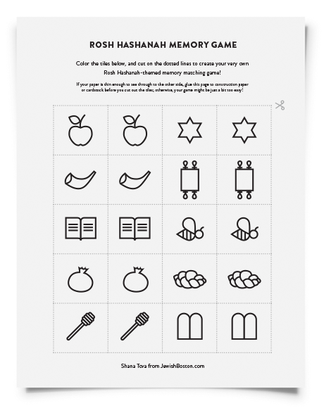 Downloadable Rosh Hashanah Activity Pages For Kids Jewishboston