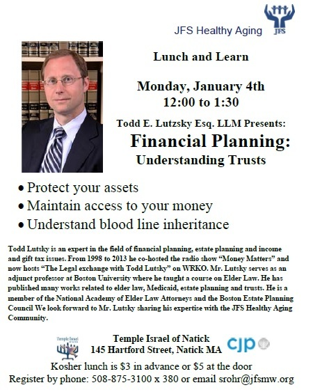 Attend a Lunch and Learn in Natick - January 4, 2016