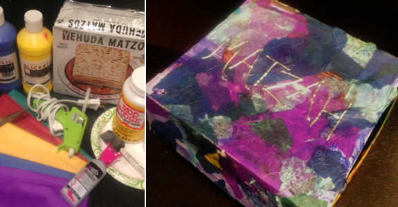 Passover Craft for Kids: Matzah Box Hack