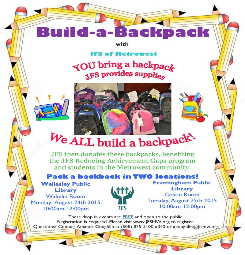 Donate a Backpack to Children in Need – August 24th and 25th